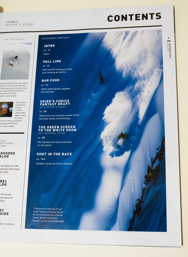 Cody Townsend at Chatter Creek/ MSP Films - Days Of My Youth in the Powder Gear Guide 2013 Issue